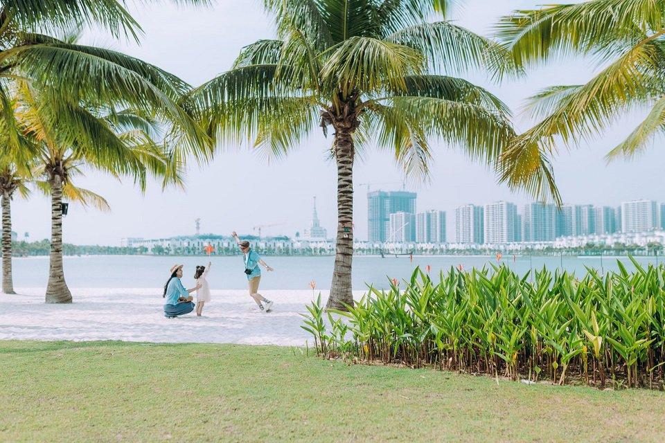 bãi biển nhân tạo tại Vinhomes Ocean Park