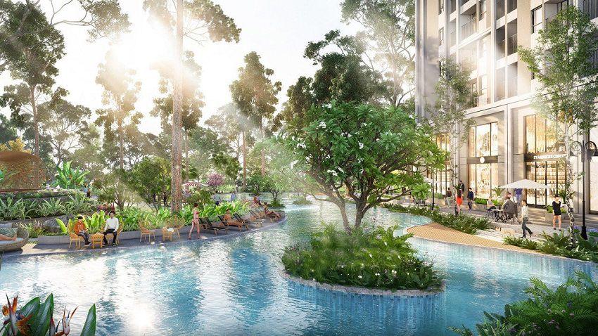 Bể bơi chung cư Feliz Homes Hoàng Mai