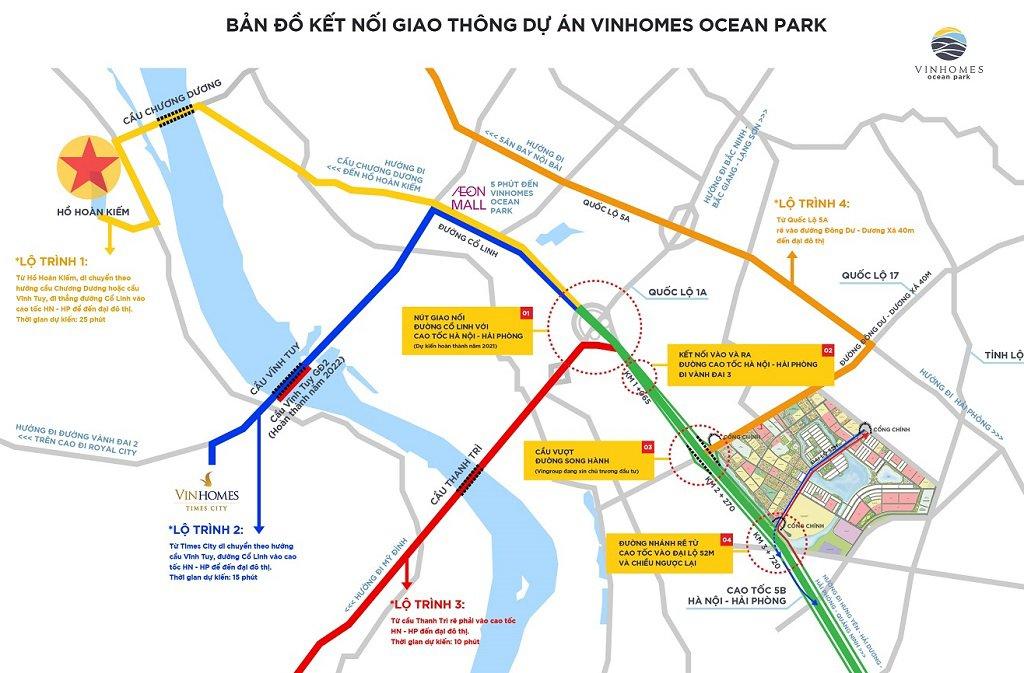 Kết nối giao thông cư dân Vinhomes gia lâm