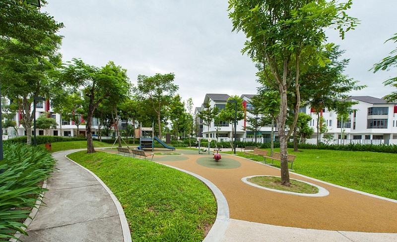 khong gian xanh trong gamuda garden