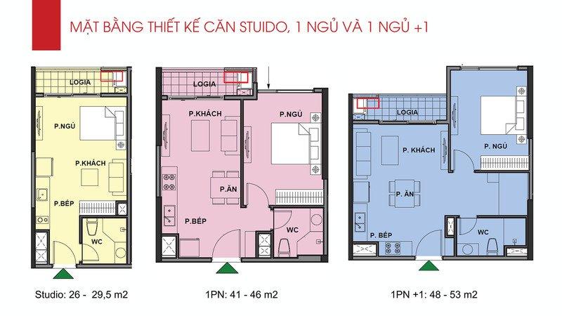 Thiết kế căn 1 phòng ngủ Vinhomes Ocean Park